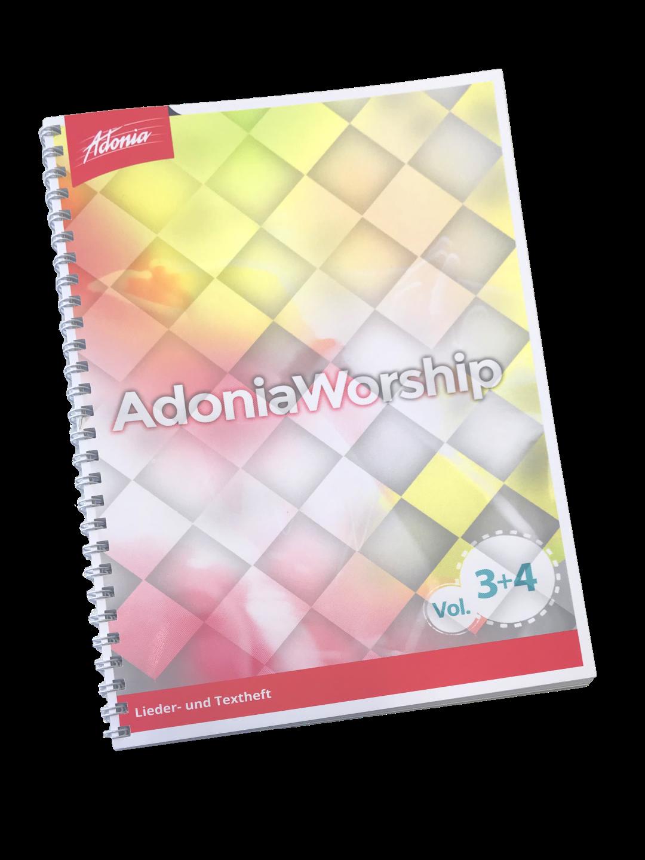 Liederbuch - Adonia Worship Vol.3 und Vol.4