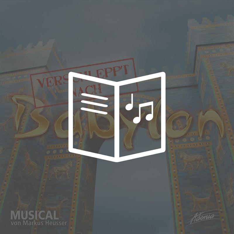 Lieder- und Textheft - Verschleppt nach Babylon