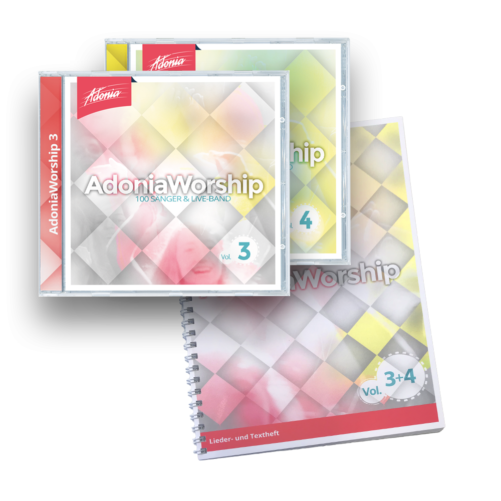 Sparset (2 CDs + LB) Adonia Worship Vol.3 & 4