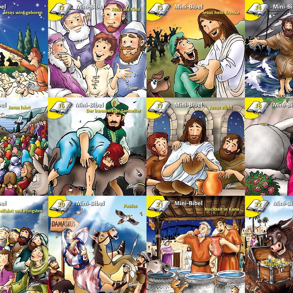 Mini-Bibel Büchlein Neues Testament SET 11-22