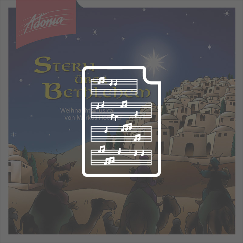 Noten - Stern über Bethlehem
