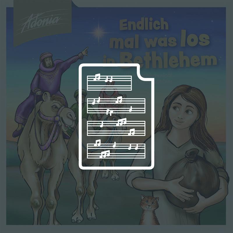Noten - Endlich mal was los in Bethlehem