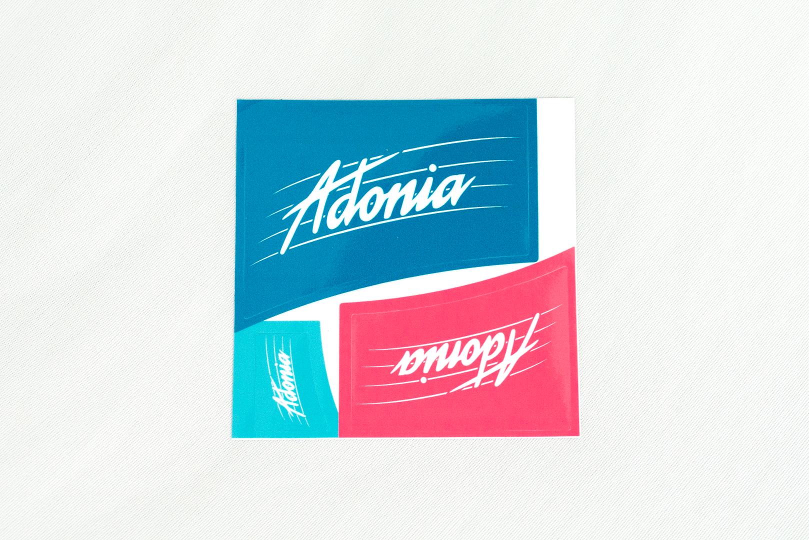 Aufkleber Adonia 3er bunt