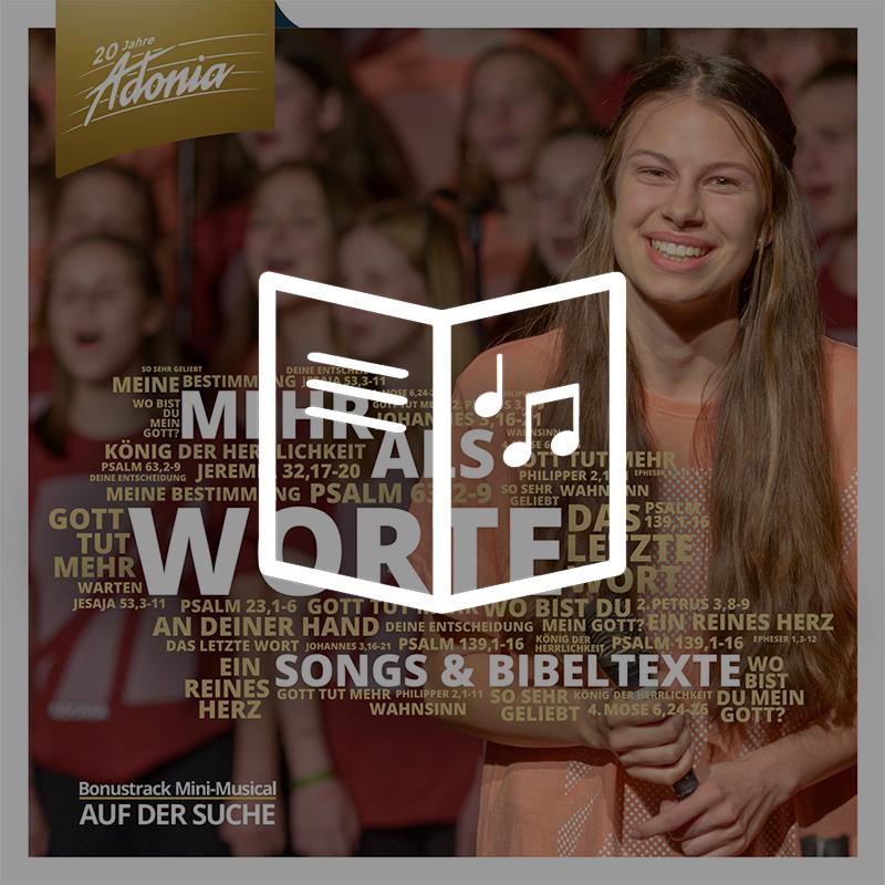 Lieder- und Texheft - Mehr als Worte