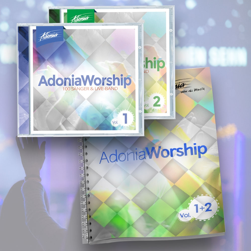 Sparset (2 CDs + LB) Adonia Worship Vol.1 & 2