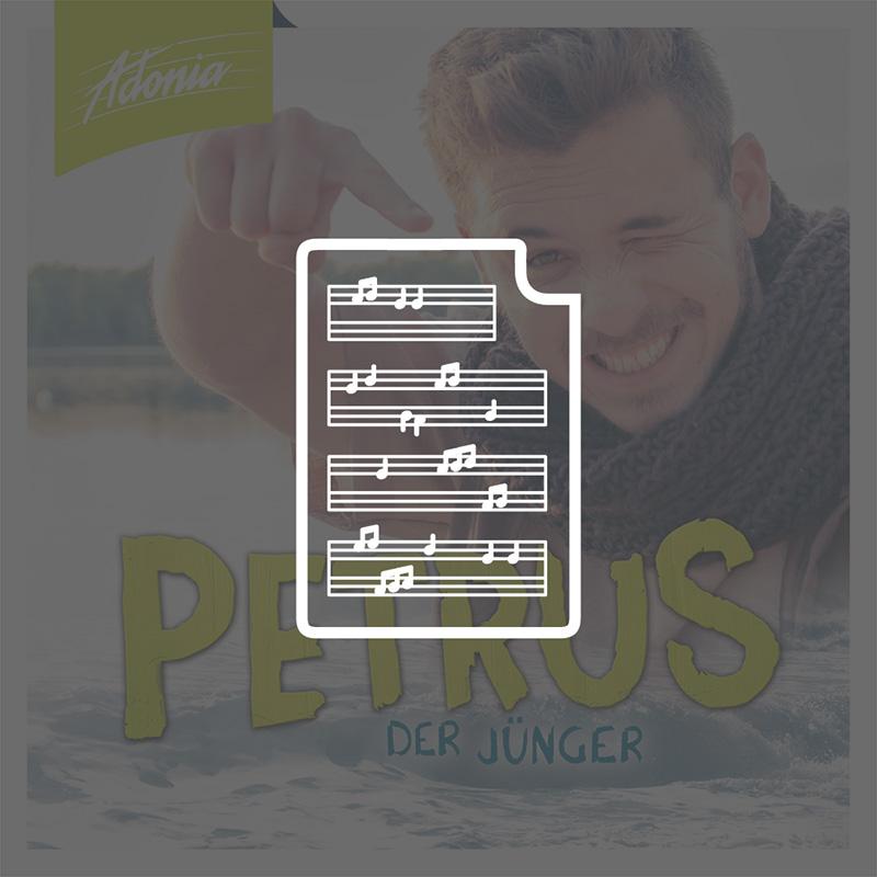 Noten - Petrus - der Jünger