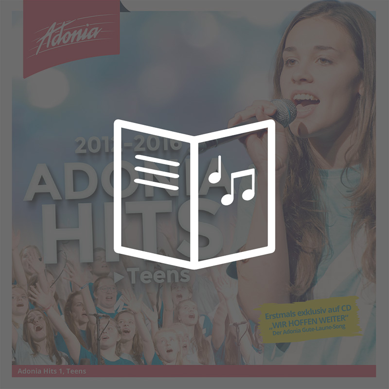 Liederheft - Adonia Hits 1 (Teens)