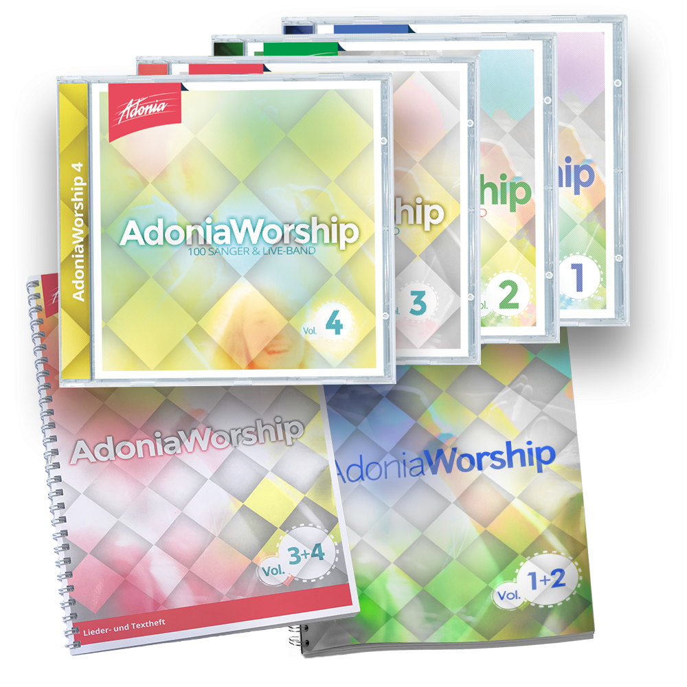 Maxiset (4 CDs + 2 LBs) Adonia Worship Vol.1 - 4